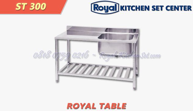 ROYAL TROLLEY AND TABLE ROYAL TABLE 15<br>(ST 300) 1 produk_royal_kitchen_set_table_15